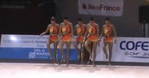 Ejercicio de mazas de España en Thiais (medalla de plata)