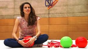 Lourdes Mohedano, bicampeona del mundo de gimnasia rítmica, entrevistada por Canal Sur