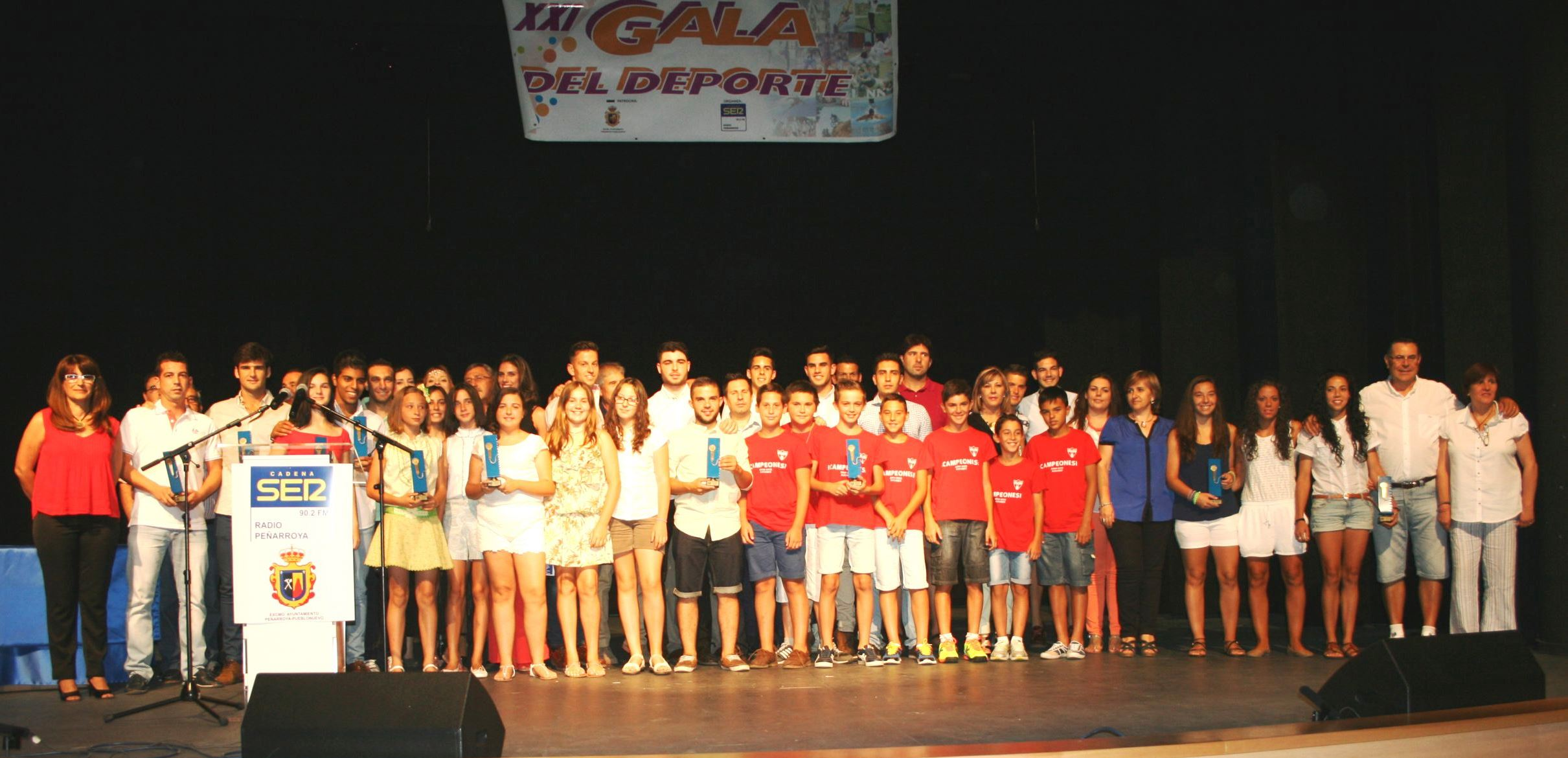 XXI Gala del Deporte Galardonados04-07-15